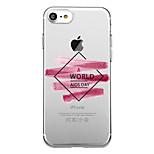 Для iphone 7 плюс 7 чехол чехол прозрачный узор задняя крышка чехол слово / фраза soft tpu для iphone 6s плюс 6s 6 плюс 6 5s 5 se