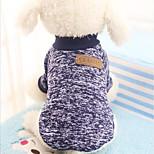 Кошка Собака Толстовка Одежда для собак Для вечеринки На каждый день Сохраняет тепло Спорт Хэллоуин Рождество Новый год Сплошной цветЦвет
