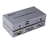 VGA USB 2.0 PS2 Переключения, VGA USB 2.0 PS2 to VGA USB Type B Переключения Female - Female 1080P