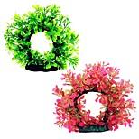 Оформление аквариума Цветы Пластик