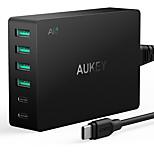 Зарядное устройство USB 6 портов Настольная зарядная станция С быстрой зарядкой 3.0 Стандарт США Адаптер зарядки