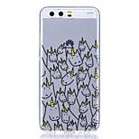 Чехол для huawei p8 lite (2017) p10 кейс для обложки единорог шаблон высокий прозрачный материал tpu корпус для царапин телефон для huawei