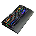 Ruyiniao металлическая игровая подсветка механическая клавиатура 104 клавиши синие переключатели USB-кабель