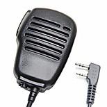 Защита от дождя 2-контактный плечо удаленного микрофона mic микрофона ptt для kenwood wouxun puxing baofeng двухсторонняя радио 2pin