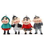 4pcs мешок / телефон / брелок шарм diy мультфильм игрушка пвх металл аниме