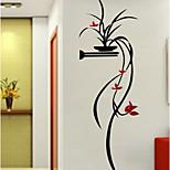 ботанический Цветочные мотивы/ботанический Романтика Наклейки 3D наклейки Декоративные наклейки на стены,Акрил материал Украшение дома
