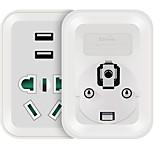 Etman au to plug usb зарядное устройство Power Strips 1 розетки 2 порта USB 10a ac 220v-250v