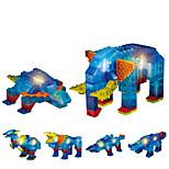 Избавляет от стресса Конструкторы Обучающая игрушка Для получения подарка Конструкторы Слон Животный принт 6 лет и выше Игрушки