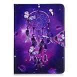 Hoesje voor Samsung Galaxy T280 t580 hoesje cover wind chimes patroon pu materiaal triple tablet pc hoesje telefoon hoesje