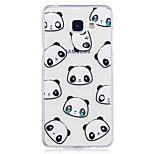 Taske til samsung galaxy a3 (2017) a5 (2017) dækslet panda mønster malet høj penetration tpu materiale imd proces blødt tilfælde telefon