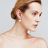 Γυναικεία Κρεμαστά Σκουλαρίκια απομίμηση διαμαντιών Μοντέρνα Εξατομικευόμενο Euramerican ταινία Κοσμήματα Χαλκός Line Shape Κοσμήματα Για