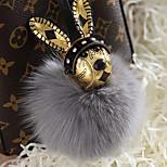 Мешок / телефон / брелок шарм кролик мультфильм игрушка мех шарик лиса мех металл