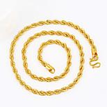 Муж. Ожерелья-цепочки Геометрической формы Змея Позолота Панк По заказу покупателя Хип-хоп Rock Массивные украшения Металлик бижутерия