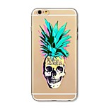 Kotelo iphone 7 plus 7 kattaa läpinäkyvä kuvio takakansi tapauksessa hedelmä ananas kallo pehmeä tpu apple iphone 6s plus 6 plus 6s 6 se