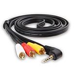 3,5 мм аудио разъем Кабель-переходник, 3,5 мм аудио разъем to 3RCA Кабель-переходник Male - Male Позолоченная медь 1.5M (5Ft)