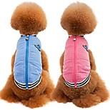 Кошка Собака Плащи Жилет Одежда для собак Для вечеринки На каждый день Сохраняет тепло Спорт Сплошной цвет Синий Розовый
