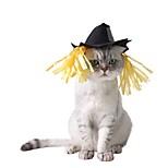 Кошка Банданы и шляпы Одежда для собак Хэллоуин Сплошной цвет Черный