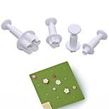 4 предмета Формы для пирожных Новинки 3D Повседневное использование Пластик