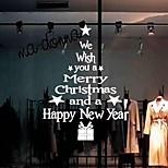 Рождество Романтика Праздник Наклейки Простые наклейки Декоративные наклейки на стены,Бумага материал Украшение дома Наклейка на стену