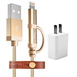 I-mu us plug phone usb charger mfi сертификация комплект зарядного устройства для нескольких портов 100 см 1 розетки 1 порт USB 2a ac