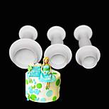 3 предмета Формы для пирожных Новинки Повседневное использование Пластик