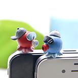 Пара противопылевой пробки diy осьминог для купольной смолы ремесла мультфильм игрушка смолы 3,5 мм