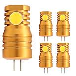 2W Двухштырьковые LED лампы T 4 COB 180 lm Тёплый белый V 5 шт. G4