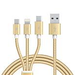 USB 2.0 Кабель, USB 2.0 to USB 2.0 Тип C Micro USB 2.0 Lightning Кабель Male - Male 1.2m (4FT)