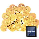 hkv® солнечные лампы 6m 30led водонепроницаемая фея открытый сад рождественская вечеринка украшения строка свет