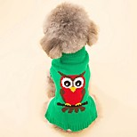 Кошка Собака Плащи Свитера Одежда для собак Для вечеринки На каждый день Косплей Сохраняет тепло Свадьба Рождество Новый год Хэллоуин