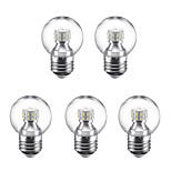 3W Круглые LED лампы G45 24 SMD 2835 250 lm Тёплый белый Холодный белый 220 V 5 шт. E27