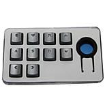 Sangee keycap прозрачный символ 10 клавиш набор клавиш для механической клавиатуры серебристый