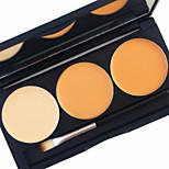 pro 3 цветной контурный консилерный комплект 2in1 румяна румяна контур бронзер основа яркий матовый крем косметическая палитра