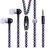 Украшения наушники с микрофоном для смартфона fone de ouvido бисер в ушах earbuds модные ювелирные изделия жемчужные ожерелья наушники