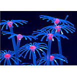 Оформление аквариума Орнаменты Светящийся Резина