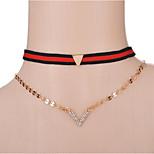 Жен. Ожерелья-бархатки Y-ожерелья Плюшевая ткань Сплав Простой стиль Бижутерия Назначение Повседневные