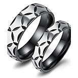 Муж. Классические кольца Цирконий Любовь Мода Pоскошные ювелирные изделия Chrismas Классика Титановая сталь Круглый Бижутерия Назначение