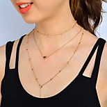 Жен. Ожерелья-бархатки Бижутерия В форме сердца Сплав Простой стиль Бижутерия НазначениеСвадьба Для вечеринок День рождения Обручение