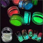 Женская униформа Сияющий в темноте 3-D Вспышка Компоненты для самостоятельного изготовления порошок Салон ногтей Инструмент для рук