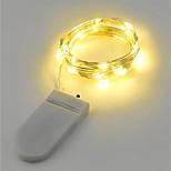 2w струнные огни 200 lm батарея v 2 m 20 светодиодов теплый белый белый rgb красный желтый синий зеленый