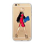 Case for iphone 7 plus 7 fedél átlátszó mintás hátlap burkolat szexi hölgy puha tpu apple iphone 6s plusz 6 plusz 6s 6 se 5s 5c 5 4s 4