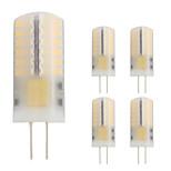 3W Двухштырьковые LED лампы T 48 SMD 3014 280 lm Тёплый белый V 5 шт. G4