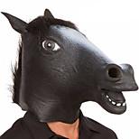 Хэллоуин жуткий резиновый животное грива лошадь голова маска Хэллоуин маскарад косплей партия костюм prop