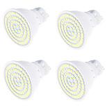 4W Точечное LED освещение MR16 80 SMD 2835 320 lm Тёплый белый Холодный белый Декоративная V 4 шт. GU10