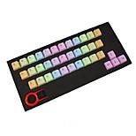 Abs 37 клавиш подсветка радуги keycaps фиолетовый для механической клавиатуры