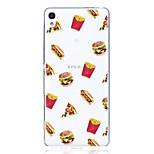 Taske til Sony x xa case cover hamburgere mønster høj penetration tpu materiale ridse telefon taske til Sony E5