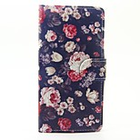 Case for wiko lenny 3 lenny 2 case cover the flowers pattern pu кожаные чехлы для wiko sunset 2