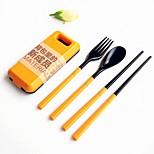 2 шт / комплект abs пластиковая посуда набор народная ложка палочки для еды