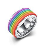 Dames Heren Ring Sieraden PERSGepersonaliseerd Roestvrij Staal Ronde vorm Sieraden Voor Feest Kantoor/Formeel Dagelijks
