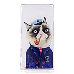 Чехол для сони m2 xa чехол для крышки мультфильм кошка шаблон tpu материал imd craft мобильный телефон кейс